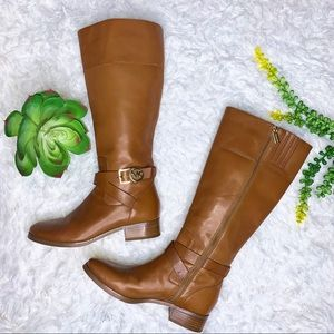Michael Michael Kors Bryce Riding Boots in Luggage